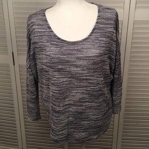 OLIVE & OAK Marbled Gray Sweater. Size L